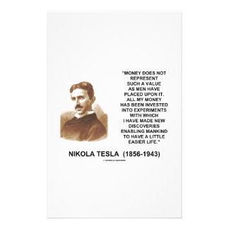 ニコラ・テスラのお金の価値発見のより容易な生命 便箋