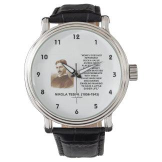 ニコラ・テスラのお金の価値発見のより容易な生命 腕時計
