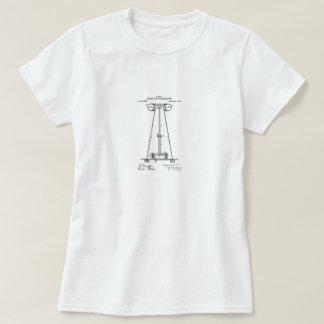 ニコラ・テスラのパテントの上 Tシャツ