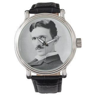 ニコラ・テスラのポートレート 腕時計