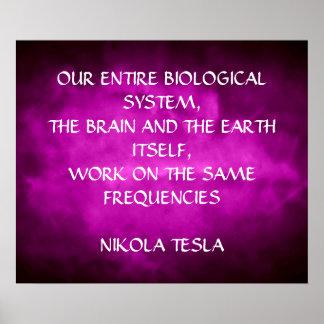 ニコラ・テスラの引用文-同じ頻度- ポスター