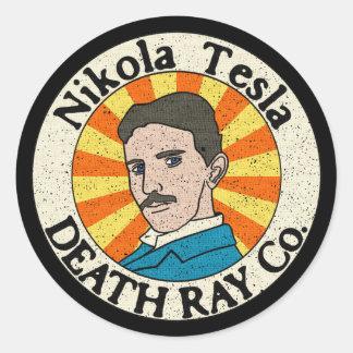 ニコラ・テスラの殺人光線Co.のステッカー ラウンドシール