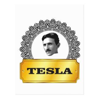 ニコラ・テスラの金ゴールド ポストカード