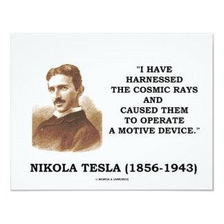 ニコラ・テスラは宇宙線の動機装置を利用しました カード