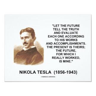 ニコラ・テスラは未来が真実の引用文を告げるようにしました カード