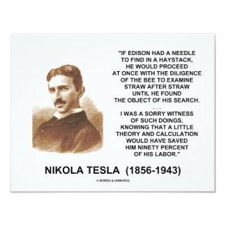 ニコラ・テスラエジソンの針の三角波理論の引用文 カード