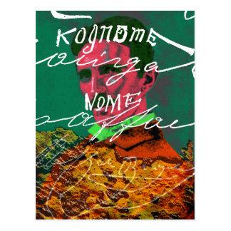 ニコラ・テスラデジタルのコラージュの混合メディアの芸術 ポストカード