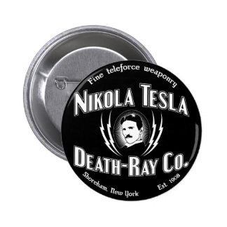 ニコラ・テスラ死光線Co. 5.7cm 丸型バッジ