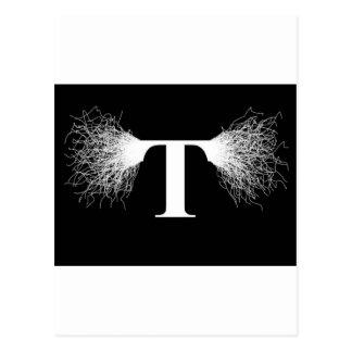 ニコラ・テスラ-テスラコイル-稲妻 ポストカード