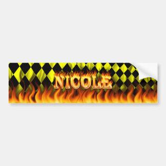 ニコールの実質火および炎のバンパーステッカーは設計します バンパーステッカー