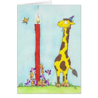 ニコールJanes著キリンの誕生日の挨拶状 カード