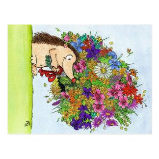 ニコールJanes著作の花束の郵便はがき ポストカード