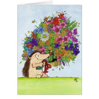 ニコールJanes著花束の挨拶状 カード
