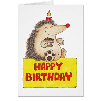 ニコールJanes著誕生日のハリネズミの挨拶状 カード
