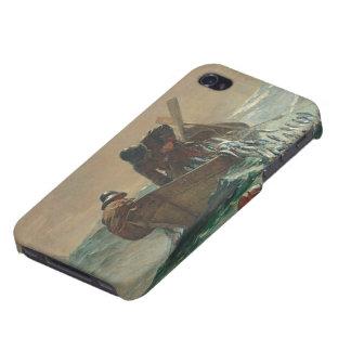 ニシンの網1885年(キャンバスの油) iPhone 4 ケース