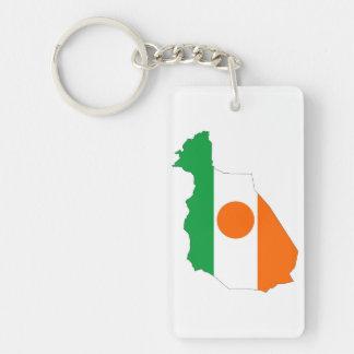 ニジェールの国旗の地図の形の記号 キーホルダー