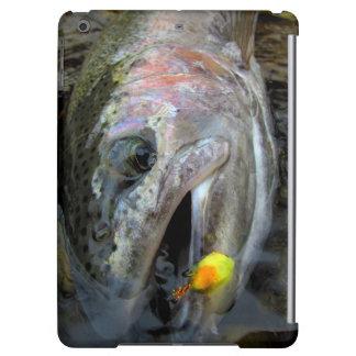 ニジマスのニジマスのはえの魚釣り iPad AIRケース