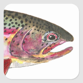 ニジマスの魚 スクエアシール