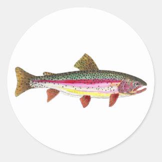 ニジマスの魚 ラウンドシール