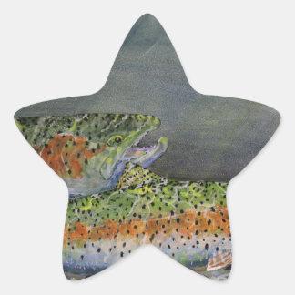 ニジマス 星シール