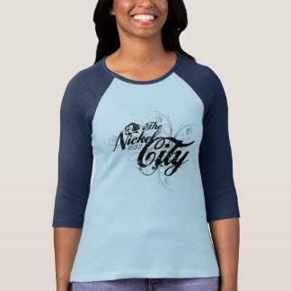 ニッケル都市ゴシック様式スタイルの女性ティー Tシャツ