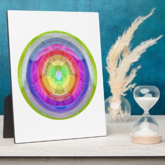 ニットクラブ-虹の毛織の球 フォトプラーク