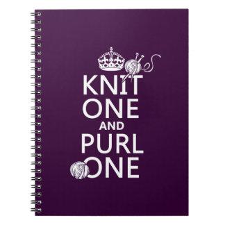 ニット1および裏編み1 ノートブック