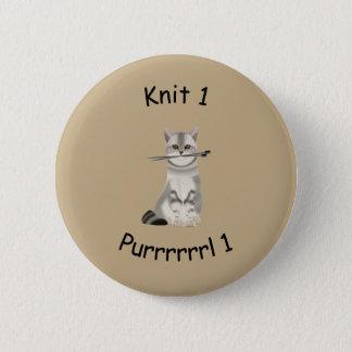 ニット1 Purrrrl 1つの編み物のバッジ 缶バッジ