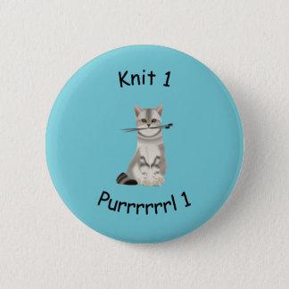 ニット1 Purrrrl 1つの編み物のバッジ 5.7cm 丸型バッジ