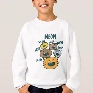 ニャーと鳴く猫 スウェットシャツ