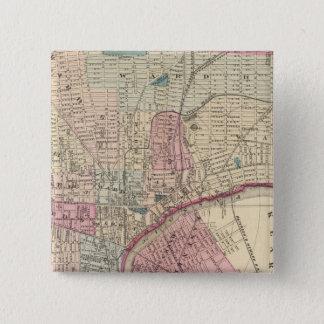 ニュアーク、NJ 5.1CM 正方形バッジ