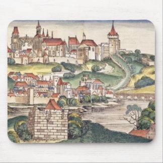 ニュルンベルクChronからのプラハの鳥瞰的な眺め マウスパッド