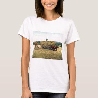 ニューイングランドのヴィンテージ1900年で干し草にすること Tシャツ