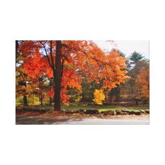 ニューイングランドの秋 キャンバスプリント
