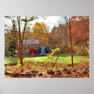 ニューイングランドの秋 ポスター