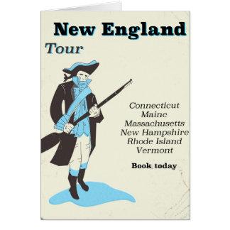 ニューイングランド旅行のヴィンテージ旅行ポスター カード
