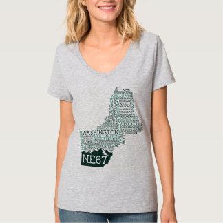 ニューイングランド67の女性のV首のTシャツ Tシャツ