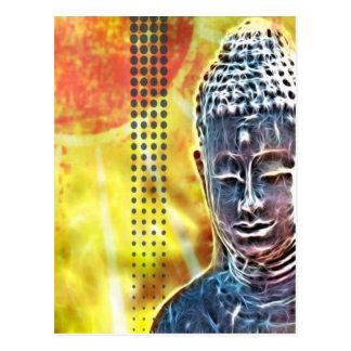 ニューエイジのヨガの黙想の精神的な禅仏 ポストカード