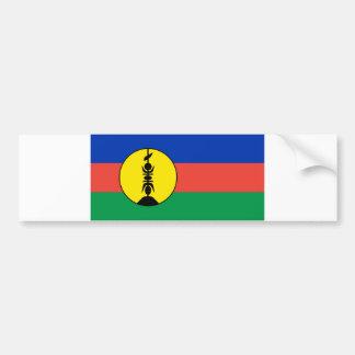 ニューカレドニアの旗 バンパーステッカー