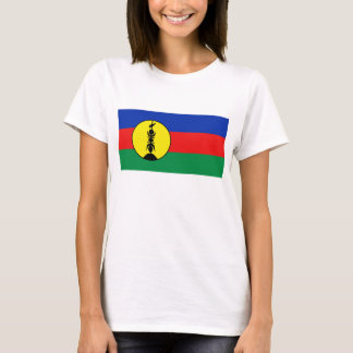 ニューカレドニアの旗Xの地図のTシャツ Tシャツ