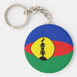 ニューカレドニアFisheyeの旗Keychain キーホルダー