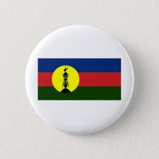ニューカレドニアKanakyの支部の旗 5.7cm 丸型バッジ