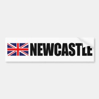 ニューキャッスルのイギリスの旗のバンパーステッカー バンパーステッカー