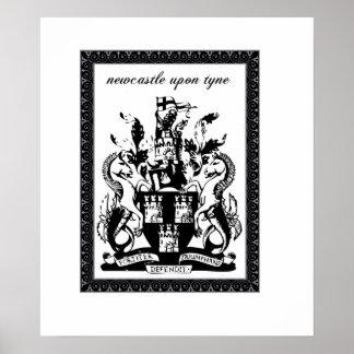 ニューキャッスルの紋章付き外衣 ポスター