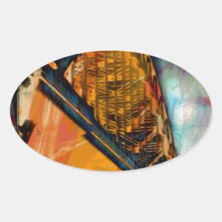 ニューキャッスルタイン橋 楕円形シール