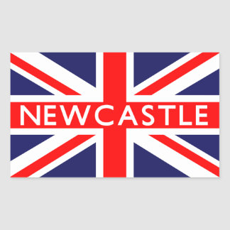 ニューキャッスル: イギリスの旗 長方形シール
