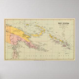 ニューギニアおよびソロモン諸島 ポスター