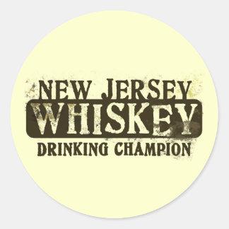 ニュージャージーのウィスキーの飲むチャンピオン ラウンドシール