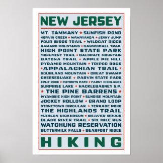 ニュージャージーのハイキングコース ポスター