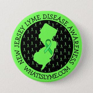 ニュージャージーのリボンボタンのライム病の認識度 7.6CM 丸型バッジ